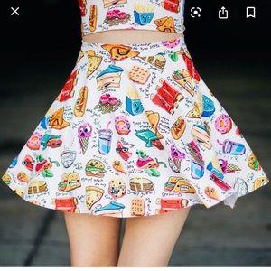 BlackMilk Munchies Crop Top & Skater Skirt